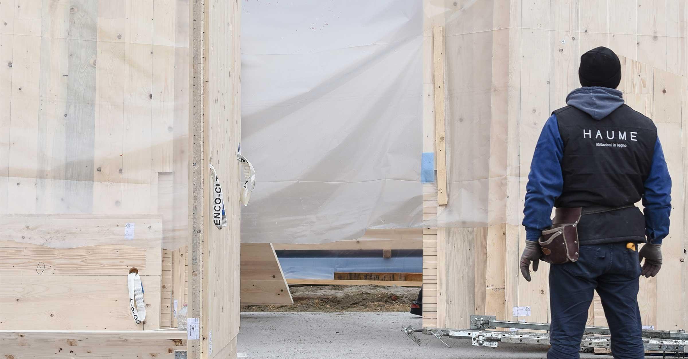 Cantiere Aperto in una casa in legno | Haume